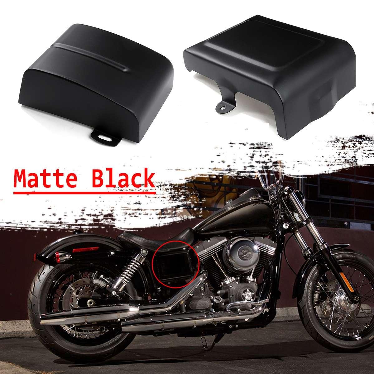 Matt Black Heat Shields Air Deflector Set For 2006-2018 Harley Dyna Fat Bob