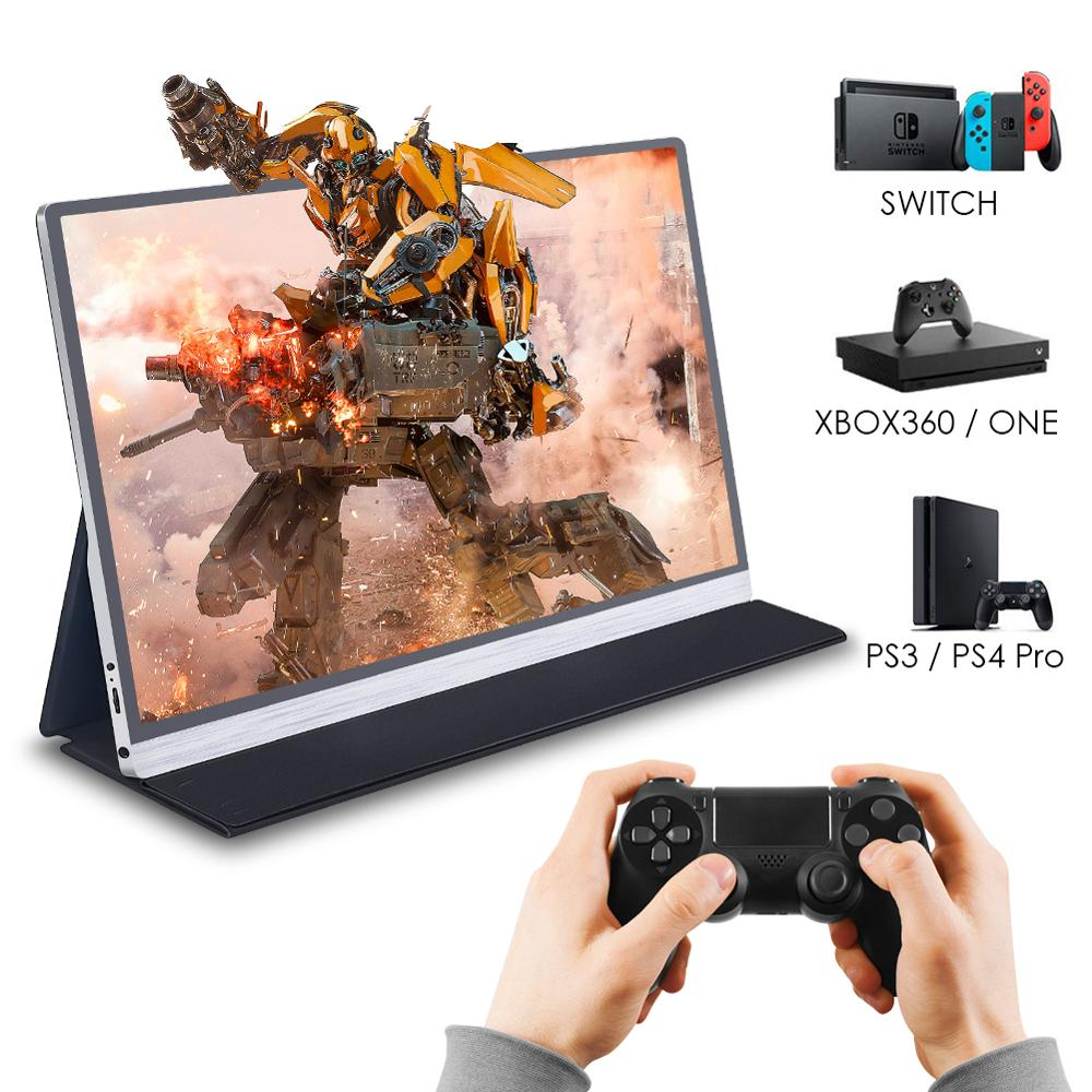 15.6 4K Type USB C HDMI DP Portable Monitor 1080 For Switch Xbox Ps4 MAC Laptop Gaming Monitor Phone LCD Screen Display Type-c
