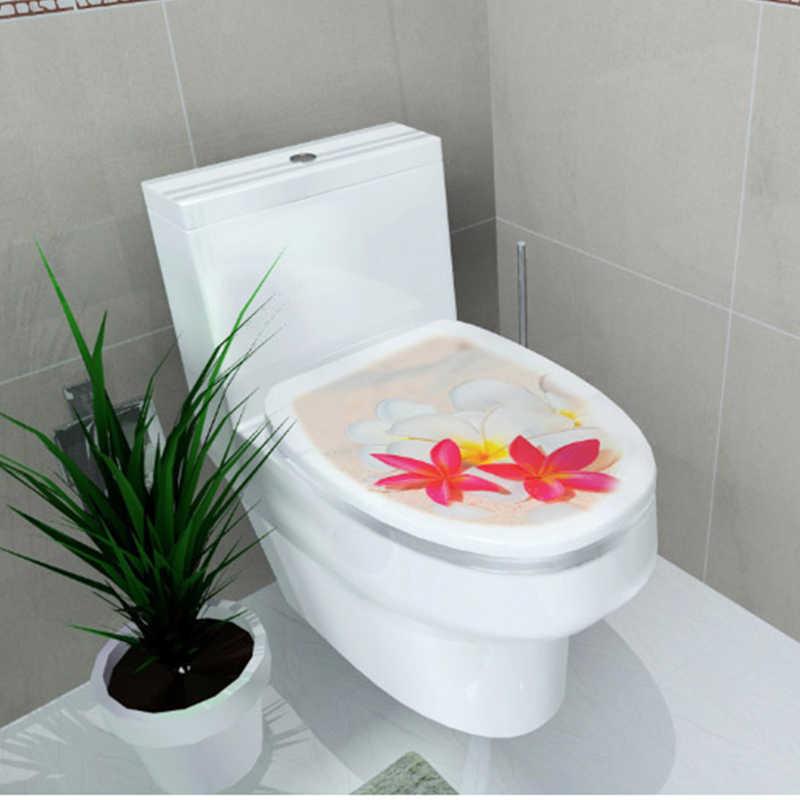 """סיטונאי מדבקת בב""""ש כן פאן כיסוי מדבקת אסלת שרפרף שידה מדבקת בית תפאורה Bathroon דקור 3D מודפס פרח צפה"""