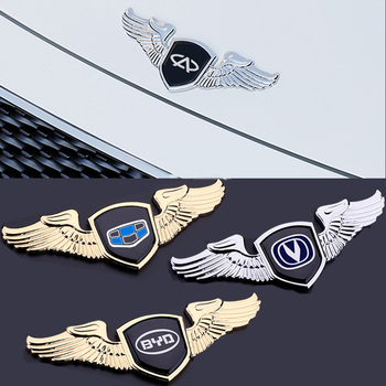 цена на Car Emblem For Chery A3 Tiaggio Changan CS35 CS75 Eado BYD F3 F0 Geely Great Wall Hover Dongfeng Front Hood Cover Wing Sticker