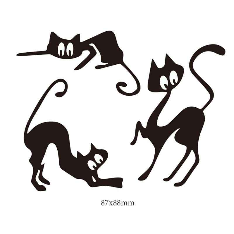 Cats Metal Cutting Dies Stencil Scrapbooking DIY Album Stamp Paper Card Emboss GXMA