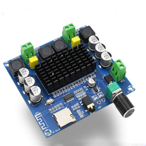 Image 5 - XH A105 Digitale Bluetooth 5.0 Versterker Boord TDA7498 2X100W Stereo Audio Amp Module Ondersteuning Tf Card Aux