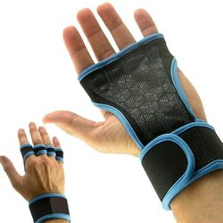 Half Finger Gloves Women Men Anti-Slip Breathable Wrist Support Fitness Weight Lifting Dumbbell Dead Lift Pull-up Sports New