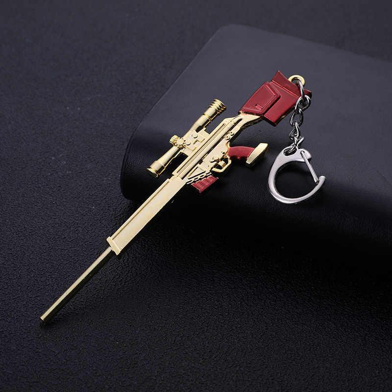 Gioco PLAYERUNKNOWN'S BATTLEGROUNDS Costume Cosplay Portachiavi akm 98k Arma Modello Keychain PUBG Pan Casco Per Regalo del Ventilatore