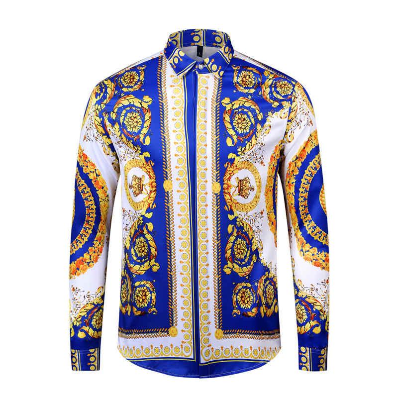loseta límite mago  Camisa Vintage de estilo barroco y Floral para hombre y mujer, camisas de  Otoño de manga larga, diseño de lujo, estampado 3d, ropa informal de  algodón ajustada para hombre|vestido de camisa|vestido de