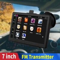 7 Inch 7 HD Car Touch Screen FM Bluetooth AVIN Navitel 2018 Latest Europe Map Sat nav Truck CAR Bavigators Automobile