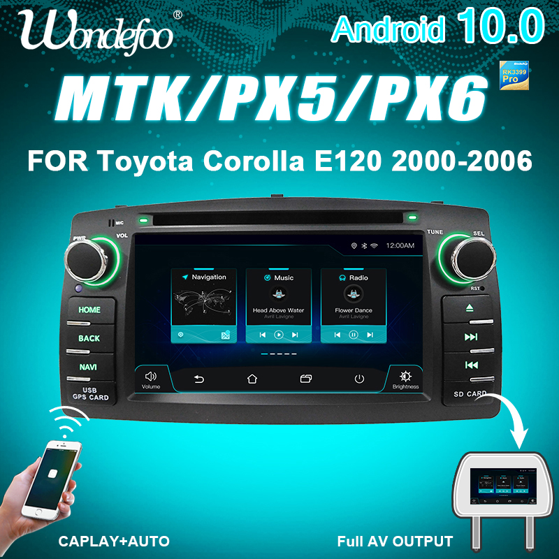 PX6 4G 64G 2 din Android 10 car radio For Toyota Corolla E120 BYD F3 2din stereo receiver navigation auto audio dvd player gps(China)