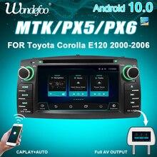 PX6 4 جرام 64 جرام 2 الدين أندرويد 10 راديو السيارة لتويوتا كورولا E120 BYD F3 2din ستيريو استقبال الملاحة السيارات الصوت تحديد مواقع لمشغل أقراص دي في دي