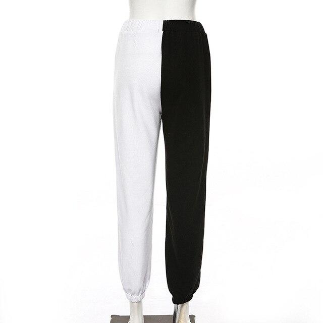 Брюки женские с высокой талией тренировочные брюки контрастных