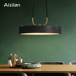 Aisilan minimalist LED pendant light Nordic style Cylindrical Modern for dining room cafe bar personality pendant lamp(China)