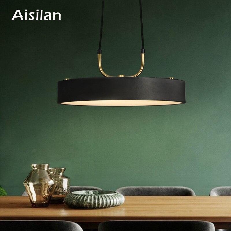 Aisilan minimaliste pendentif LED lumière style nordique cylindrique moderne pour salle à manger café bar personnalité suspension