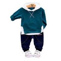 Crianças vestuário primavera outono crianças meninos meninas roupas esportivas ternos do bebê hoodies calças 2 pçs/sets moda criança fatos de treino