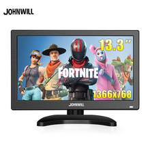 "13.3 ""Portable Monitor HD 1366X768 LCD Mini PC TV Layar CCTV PS4 dengan USB HDMI Vga AV BNC 12/10.1 Inci Gaming Monitor(China)"