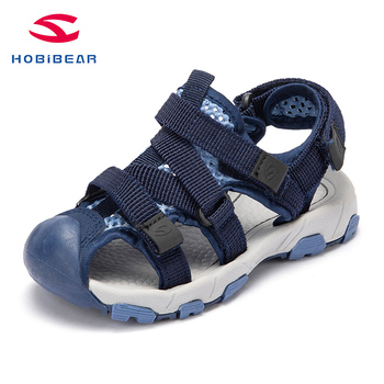 HOBIBEAR kids sandals  bech Sandals Leather Shoes Leisure Kids Shoes  boys shoes H7711 H7712 leather sandals boys 2020 100