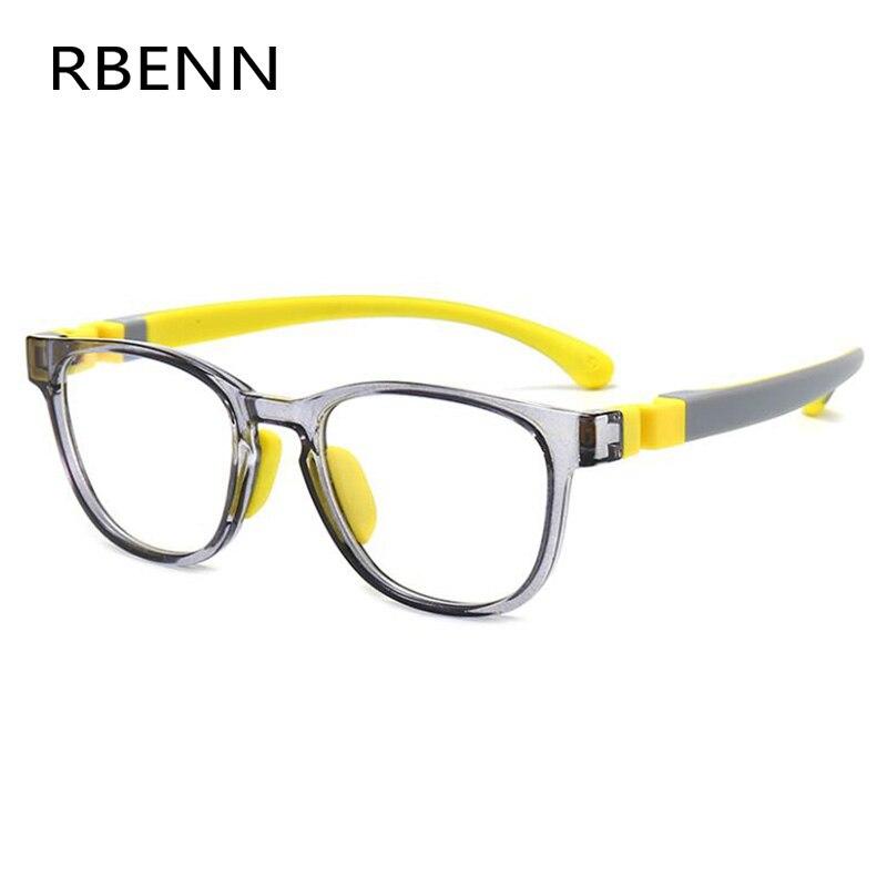 RBENN-lunettes bloquantes à lumière bleue pour enfants, monture carrée en Silicone, pour garçons et filles, Anti lumière bleue, pour ordinateur, nouvelle collection 2020