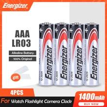 Électrizer – batterie alcaline AAA 1.5V, 4 pièces, pour lampe torche, horloge, souris, télécommande, brosse à dents, compteur de gaz, pile primaire sèche, LR03