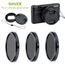 ND2 ND4 ND8 중립 밀도 ND 필터 및 어댑터 링 렌즈 캡 키퍼 Sony RX100 Mark VII VI V VA IV III II 디지털 카메라