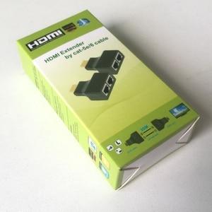 Image 5 - 2 adet HDMI genişletici 2 RJ45 bağlantı noktası, uzatma 30m CAT 5e CAT6 UTP LAN Ethernet kablosu HDTV HDPC