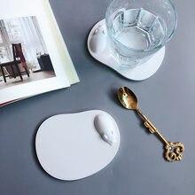 Diatom alfombra de barro lindo hipopótamo succión de agua diatomeas portavasos absorbentes estilo Simple vanidad alfombrilla para jabón taza de té absorbente