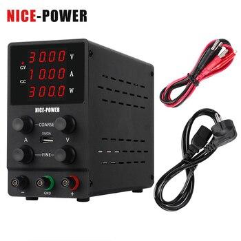 4Digits Switch Lab DC Power Supply Adjustable Digital Display Laboratory Power Source 60V 5A 30V 10A 0.001A 0.01V 0.001W 120V 3A