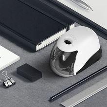 Apontador de lápis elétrico usb simples estilo de negócios apontador automático desktop escola material escritório