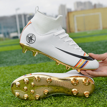 Soccer-Shoes Football-Boots Outdoor-Grass Long-Spikes High-Ankle Women Professional Unisex