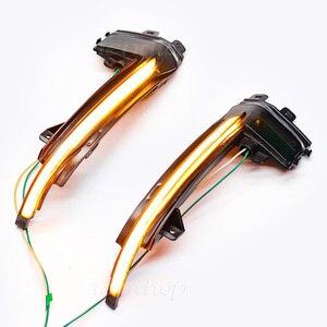 Image 4 - עבור אאודי A3 8P A4 A5 B8 Q3 A6 C6 4F S6 SQ3 A8 D3 8K דינמי מחוון LED זורם מהבהב איתות מראה נצנץ אורות