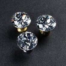 Алмазные ручки для мебели из скандинавского стекла кухонного