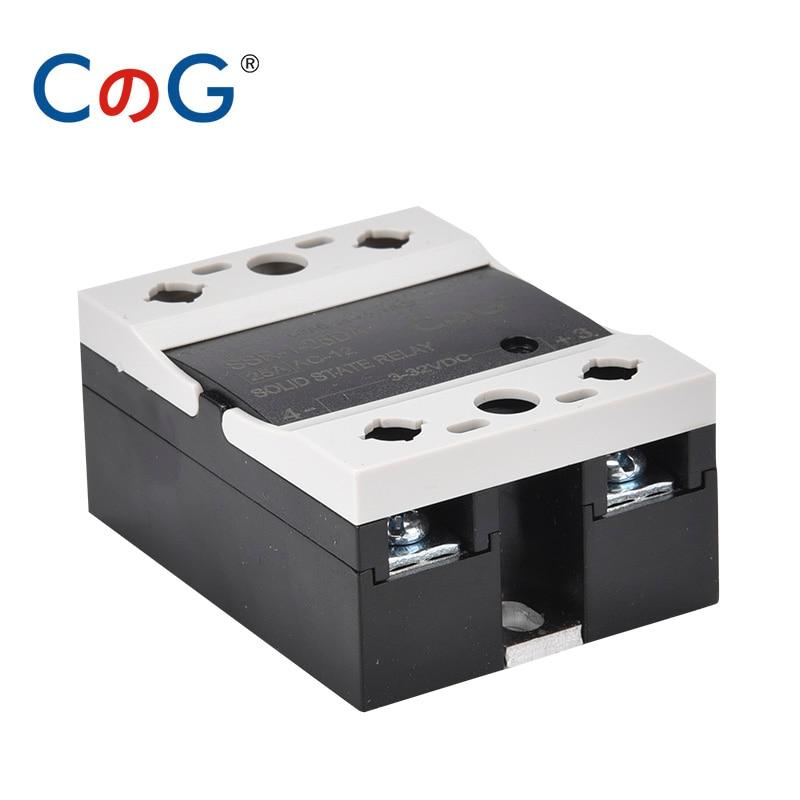 CG твердотельные реле 10A 25A 40A DA одиночной фазы Инвертор постоянного тока в переменный теплоотвод для 3V 12V 32VDC нагрузка 24V 48V 220V 480VAC SSR-10DA 25DA 40DA