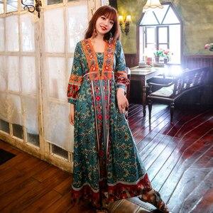 Богемное туристическое праздничное пляжное платье в стиле ретро, длинное платье в южнокорейском стиле, модное тонкое платье знаменитостей