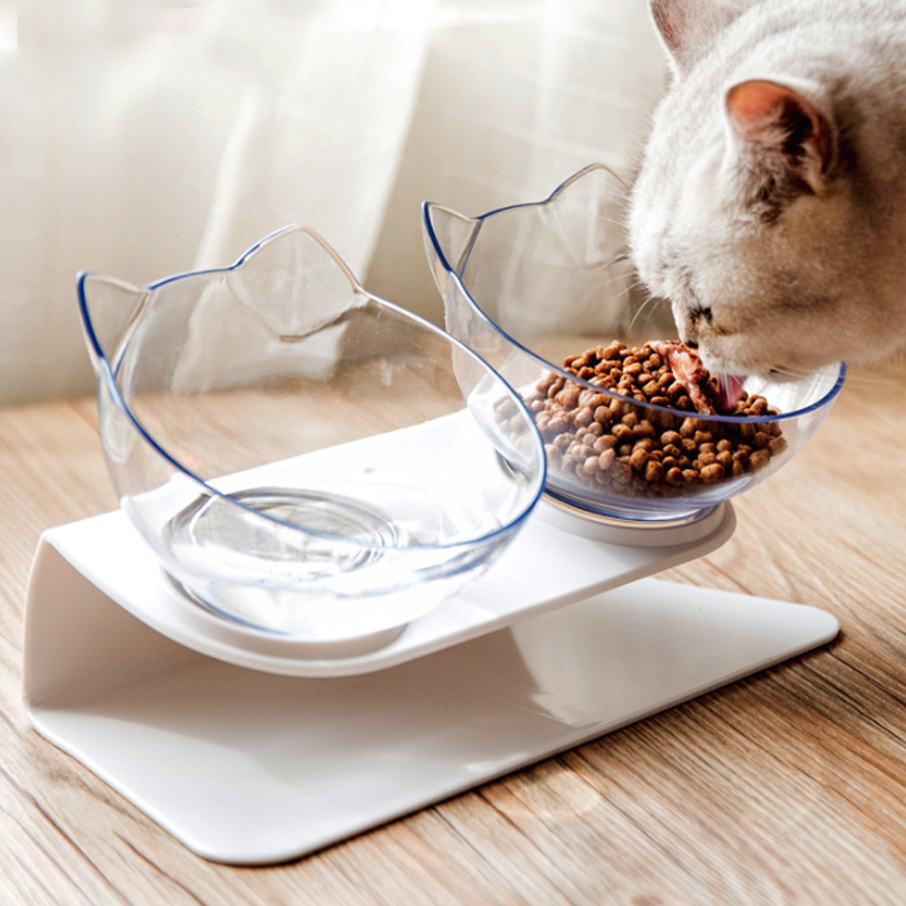 Cat Dog Food Bowl Non slip Angle Adjustment font b Pet b font Dish Rich interaction