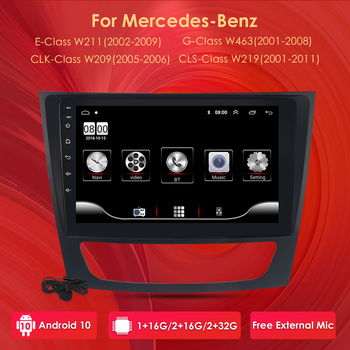 Car Radio Player GPS for Mercedes Benz E-class W211 E200 E220 E300 E350 E240 CLS CLASS W209 W219 Android 10 DVD 2 Din Wifi 4G image
