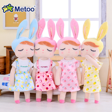 Original Metoo Doll Stuffed Toys For Girls Baby Cute Rabbit Beautiful Dress Up Fruit Angela Soft Animals For Kids Infant