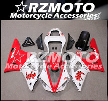 New ABS whole Motorcycle Fairings Kit Fit For YZF-R1 00 01 R1 2000 2001 bodywork set white Red