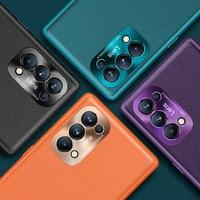 Funda de cuero vegana para teléfono móvil OPPO Find X3 Neo Pro, cubierta trasera de cuero vegana para OPPO Find X2 Lite Reno 4 5 6 Pro Plus Se K9, X 3