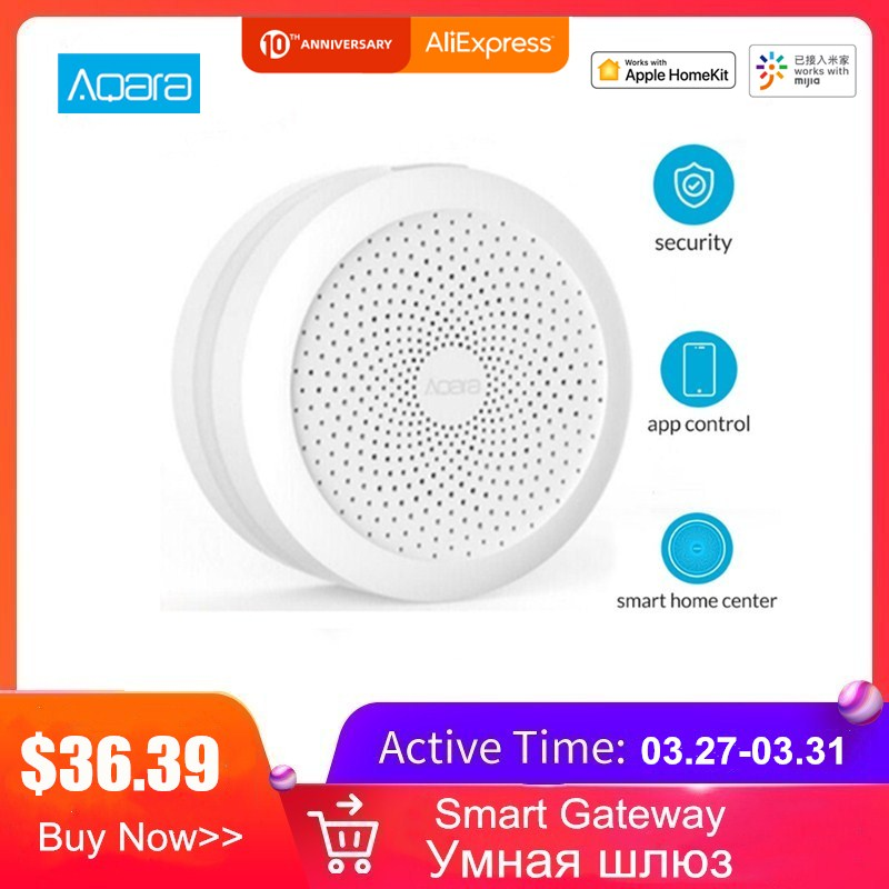Aqara Hub Wireless WiFi Zigbee Smart Gateway With RGB Led Night Light Smart Home Center Works With Apple Homekit