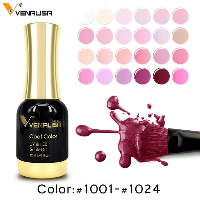 12ml Gel Varnish Nail Art hot sale Colors VENALISA Soak off Organic Odorless Enamels LED UV Nail Gel color Polish 2