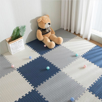 18 pieces of children's baby EVA foam play puzzle mat black and white chain fitness tile floor carpet and children's carpet