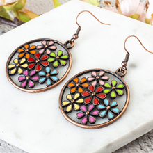 Vintage Ethnic boho round flower Dangle Drop hanging Earrings for Women fashion Indian Jewelry gypsy girl Wedding za Accessories vintage boho ethnic simple round dangle drop earrings for women female fashion jewelry hanging wedding earrings gold color hot