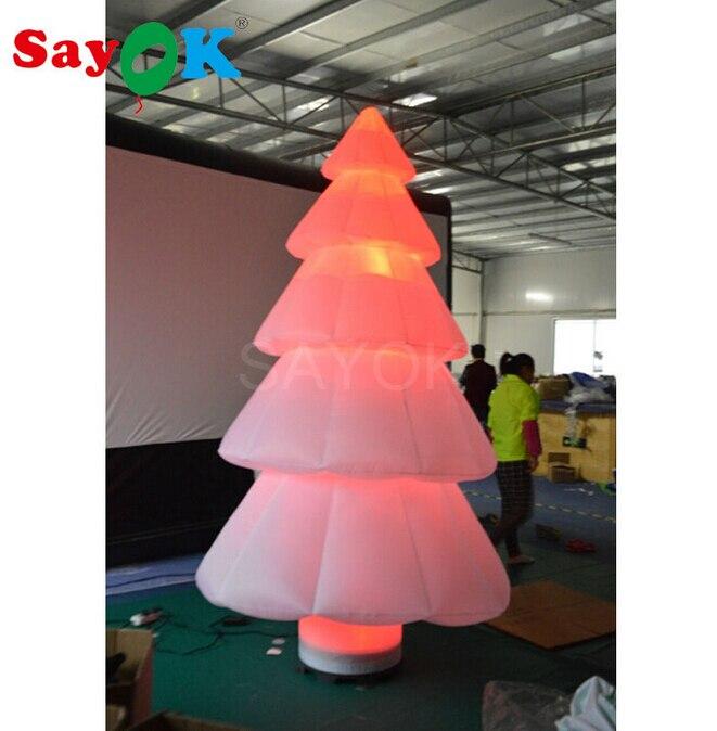 Livraison gratuite gonflable dessins animé arbre de noël ballons joyeux noël décoration balles géant en plein air pour centre commercial/hôtel - 2