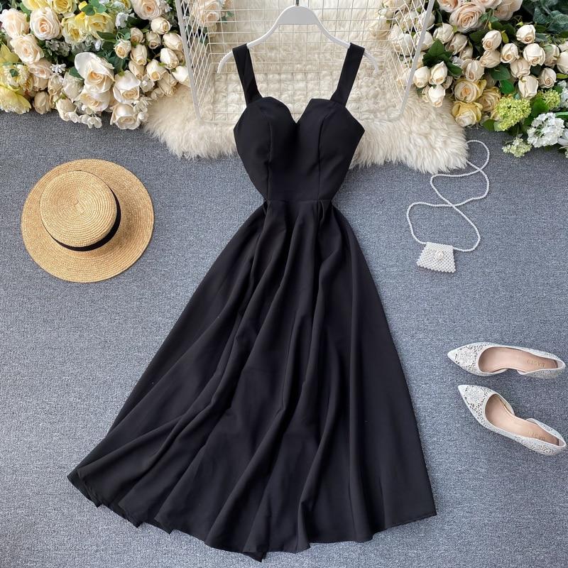 Elegant Vintage Sleeveless V-Neck Bandage Dress 2