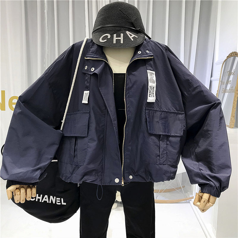 Womens Jackets and Coats 2019 Fashion Casual Pockets Solid Button Up Collar Zipper Women 39 s Demi season Jackets Fashionable in Jackets from Women 39 s Clothing