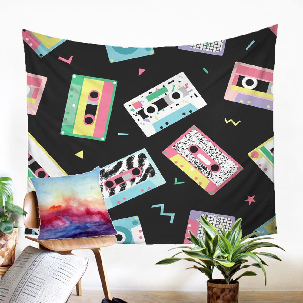 Дешевые Гобеленовая ткань всюду ковёр дизайн в виде музыкальной ноты гобелен украшения для современные для дома и общежития Dector