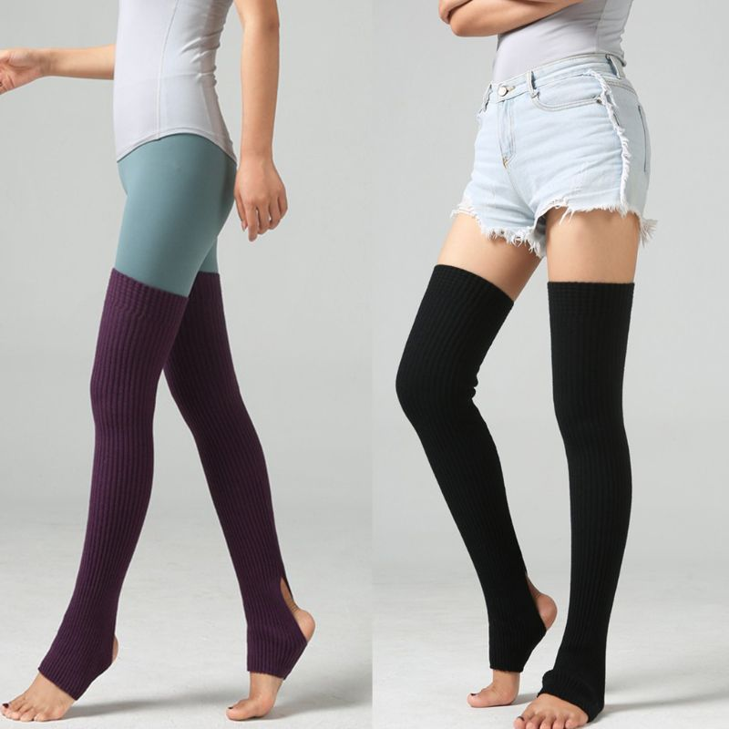 2020 New Womens Over Knee Thigh High Leg Warmers Ballet Dance Latin Stirrup Long Socks