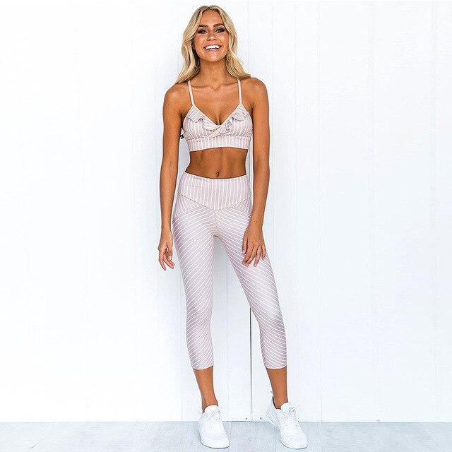 Купить женский спортивный костюм комплект для йоги бесшовный фитнес картинки цена