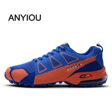ANYIOU 2020 New Fashion Hiking Shoes Man Sneaker Lover Outdoor Camping Climbing Shoes Mountain Waterproof Large Size 39-48