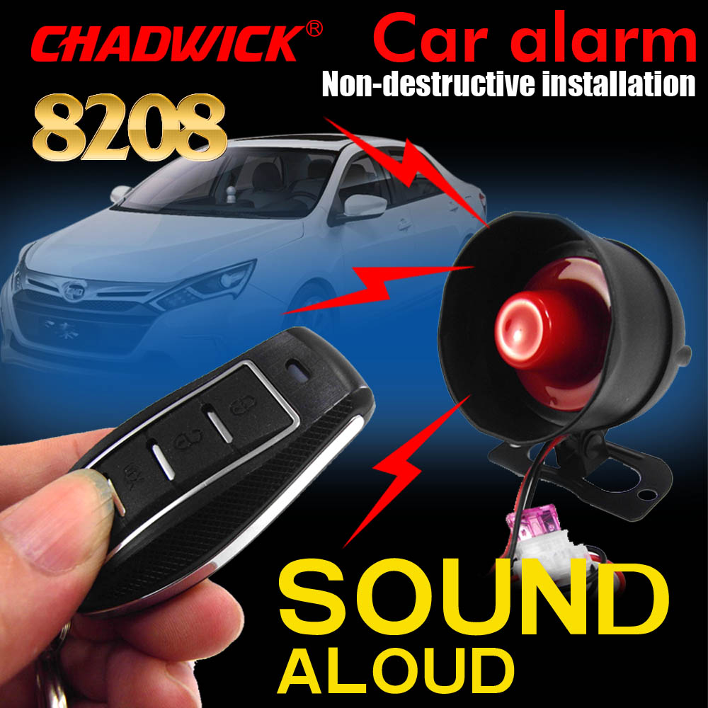 Universal For 12 Volt Vehicle Car Alarm System DIY Connect Battery Easy Install Verbrate 12v Sound Aloud Siren CHADWICK 8208