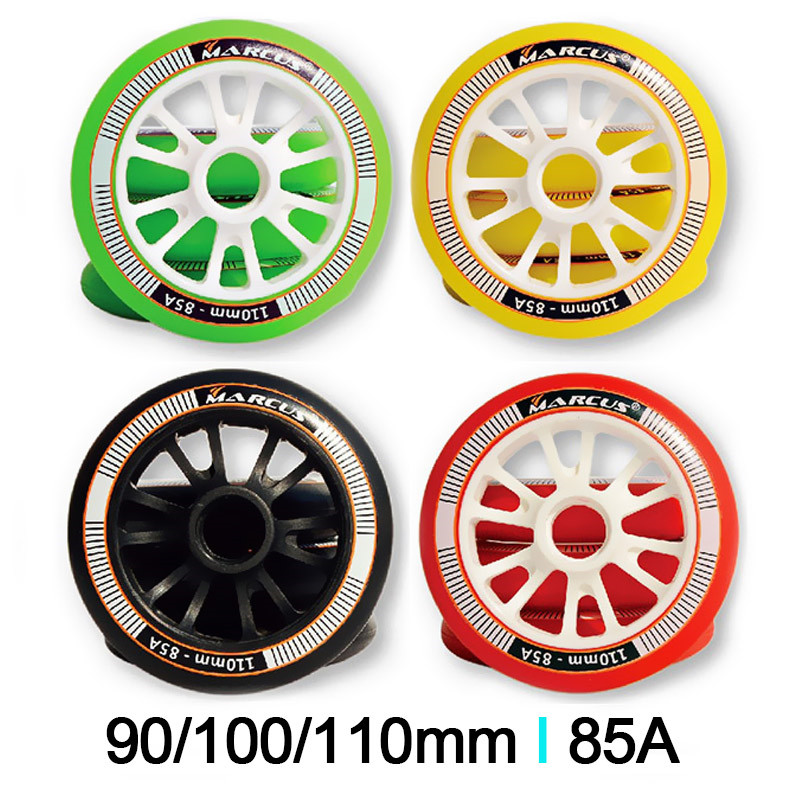 [90mm 100mm 110mm]85A Skate Roller Speed Inline Skates Wheels Race Skating Wheels For Powerslide Marcus Speed Skating Patines