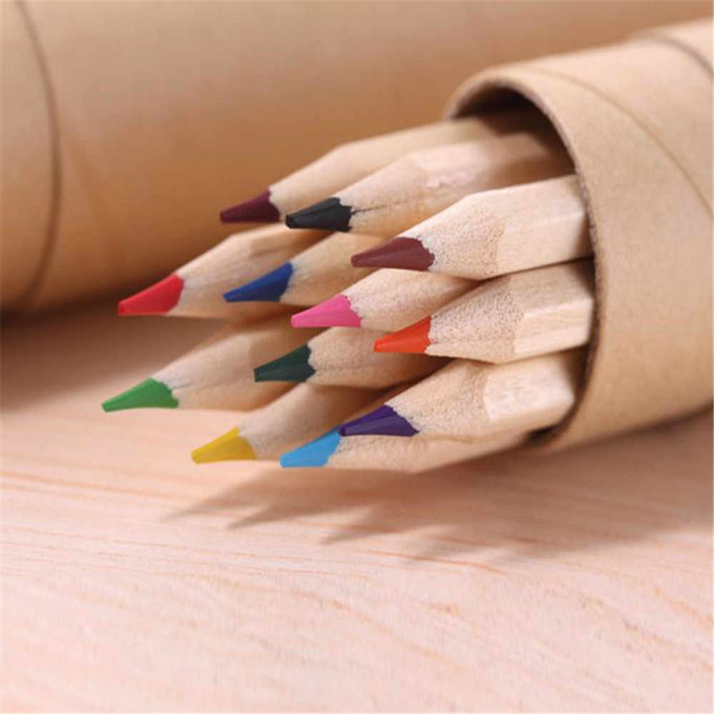 12 Color Small Pencil Painting Pen Color Lead Pencil Office Stationery writing painting for students new A30