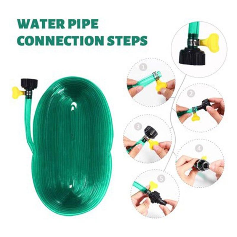 PVC Schlauch Rasen Sprinkler Rohr mit 3/4 Stecker 12 Meter Rasen Schlauch Rasen Bewässerung YU-Home
